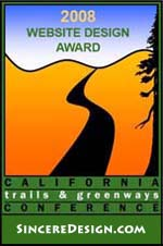 Winner of the 2008 Web Design Award from the State of California's Trails & Greenways